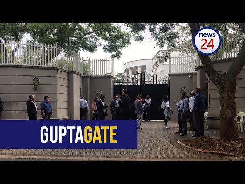 WATCH: Gupta's Saxonwold compound served with a search and seizure order