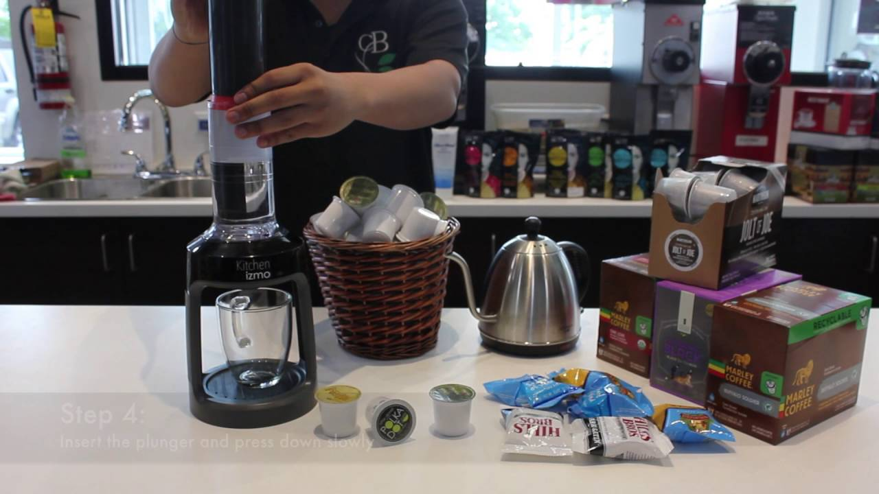 How To Use Kitchen Gizmos K Cup Coffee Press Youtube