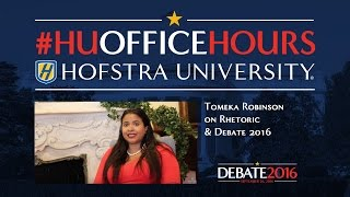 Rhetoric and Debate 2016: HU Office Hours with Tomeka Robinson