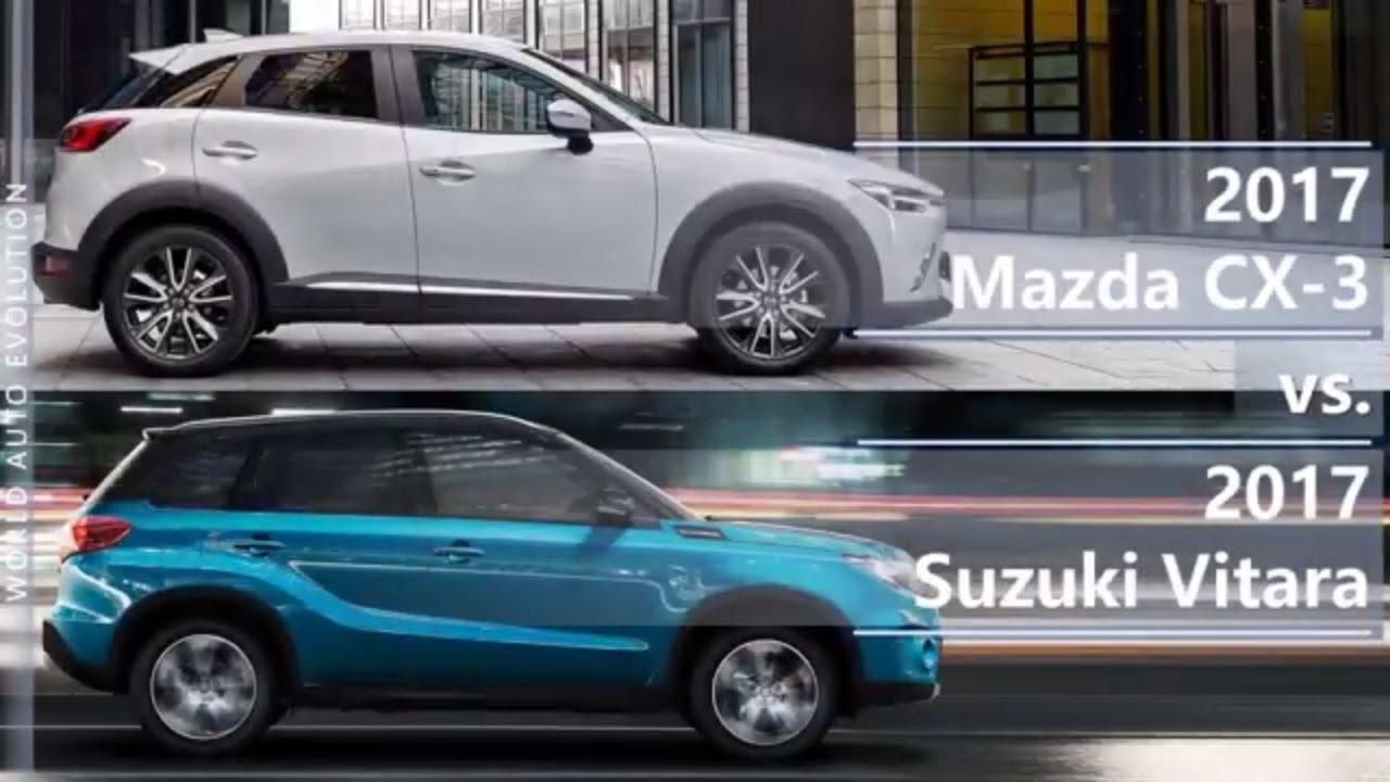 2017 Mazda Cx 3 Vs Suzuki Vitara Technical Comparison