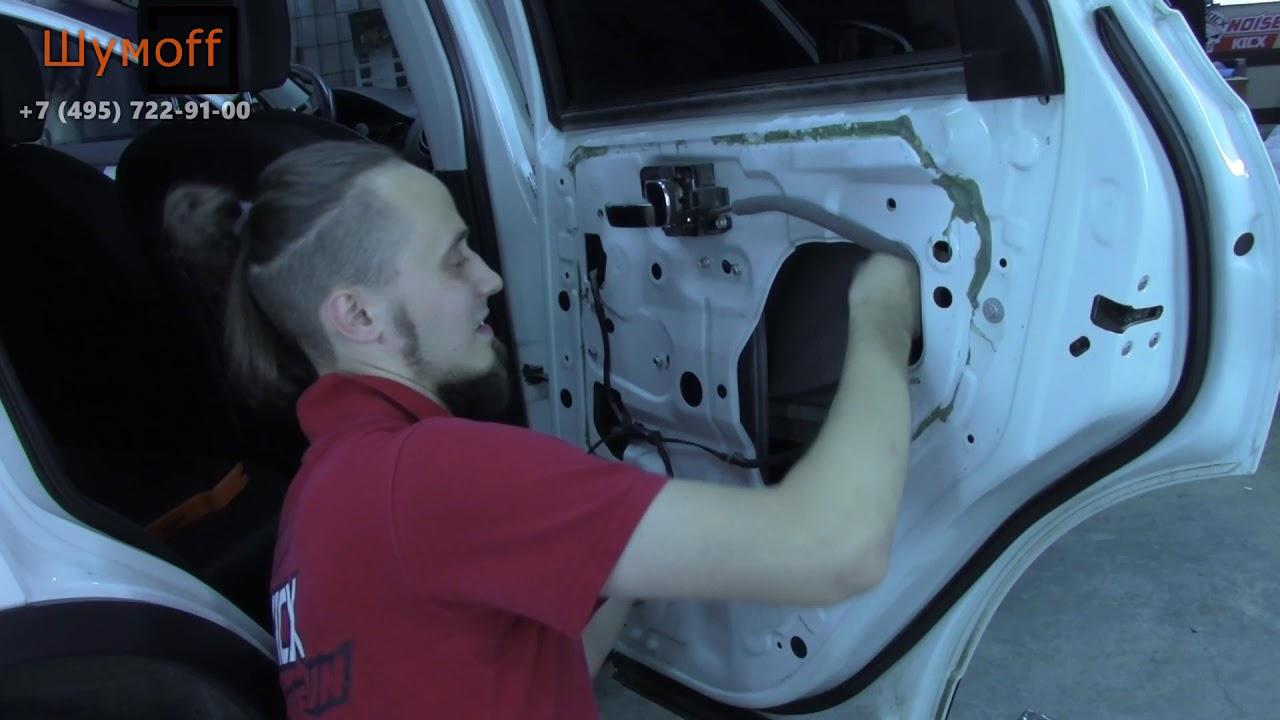 Первая в мире шумоизоляция дверей своими руками автомобиля Nissan материалом Шумофф Space 2.0