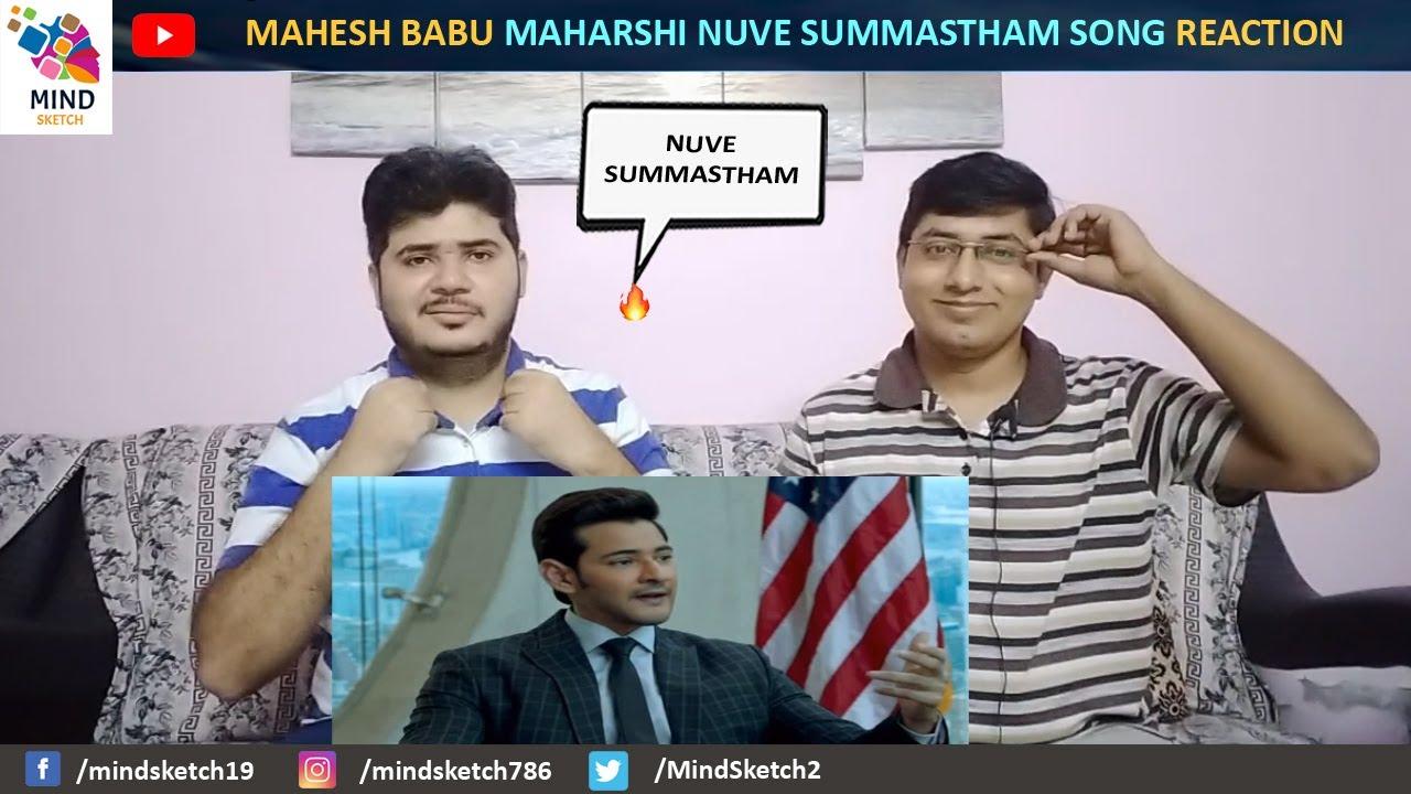 Nuvve Samastham Full Video Song Reaction | Maharshi Song | MaheshBabu, PoojaHegde | VamshiPaidipally