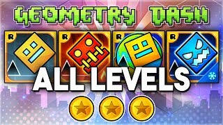 aLL LEVELS  Geometry Dash 2.11  Meltdown  World  SubZero (All Coins)  GuitarHeroStyles