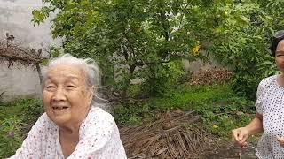 Bất ngờ về quê không báo trước, bà Ngoại gần trăm tuổi không nhận ra