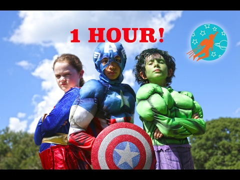 Little Superheroes Compilation Video - 1 Hour with Supergirl, Batman, Spiderman and The Flash