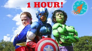 New Sky Kids Little Superheroes Compilation Video - 1 Hour with the Super Squad
