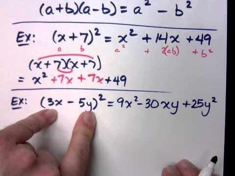 College Algebra - Part 3 (Review - Special Products)