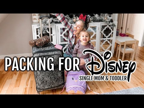 ULTIMATE PACKING FOR DISNEY WORLD SINGLE MOM AND TODDLER| Tres Chic Mama