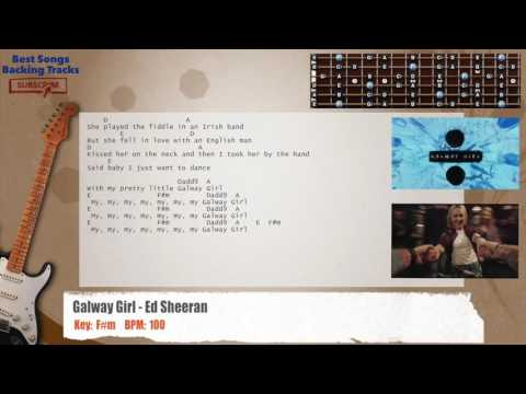 Galway Girl - Ed Sheeran Guitar Backing Track with chords and lyrics