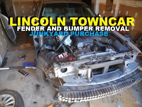 Lincoln Towncar Fender Junkyard Replacement Youtube