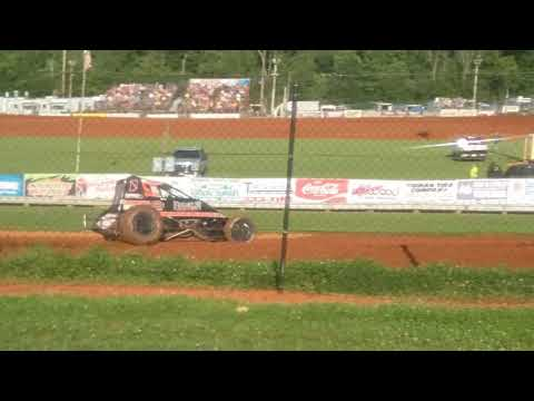 USAC Sprint Car Qualifying Part 2/3  Bloomington Speedway