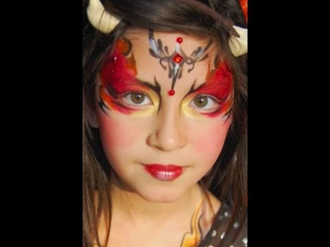 Devil Face Paint Design VIDEO Tutorial YouTube