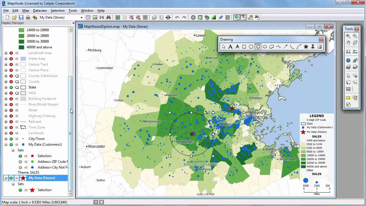 Creating Maptitude Mapping Maps With Excel Data - YouTube on