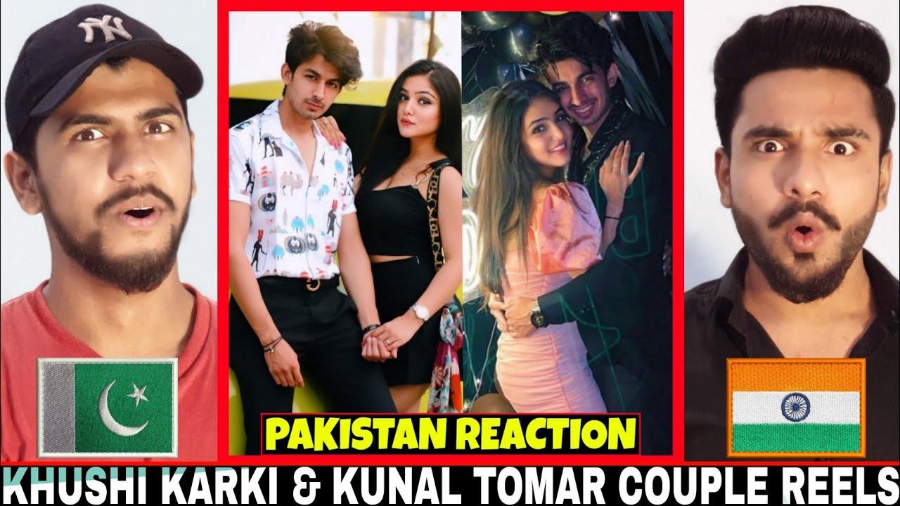 Khushi Karki & Kunal Tomar Couple Instagram Reels Videos | Pakistan Reaction | Hashmi Reaction