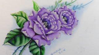 Método Prático de Pintura em Tecido – Rosas Lilás