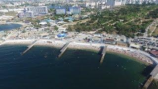 Набережная и пляж в Парке Победы Севастополь 2018