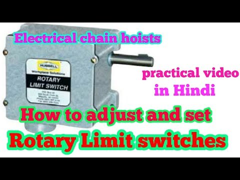 How to set rotary cam limit switch in Hindi/Demo video