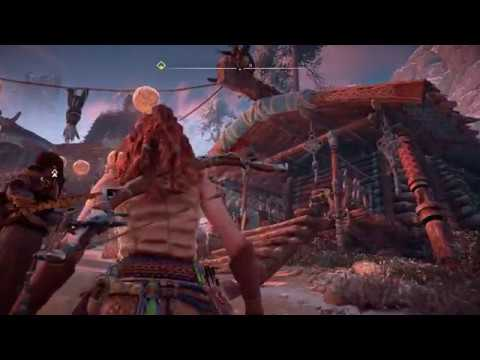 Horizon Zero Dawn - Mother's Heart: Aloy Explore's Festival: Singers, Matriarch Story, Man on Roof