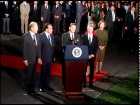 President Reagan's Remarks With 3 Former Presidents On Anwar Sadat's Funeral On October 8, 1981