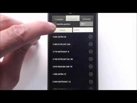 Phần mềm hướng dẫn lắp đặt chảo  parbol trên android