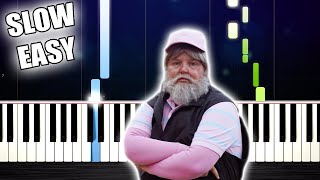 TONES AND I - DANCE MONKEY - SLOW EASY Piano Tutorial by PlutaX