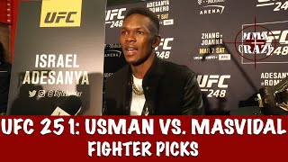 UFC 251: Kamaru Usman vs. Jorge Masvidal Fighter Picks