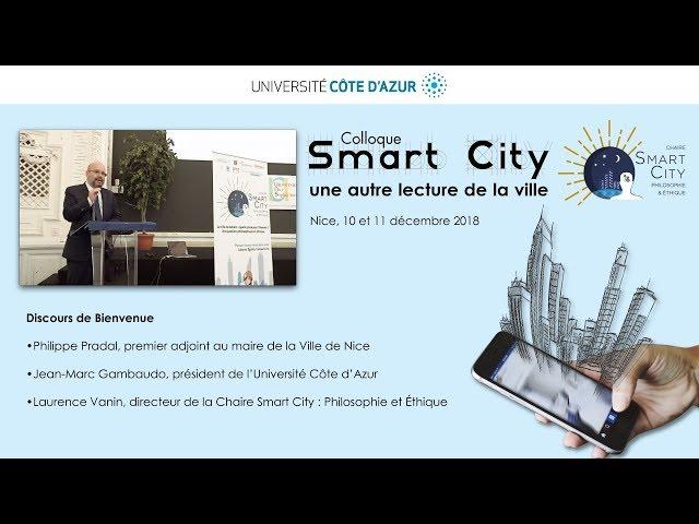 Discours d'ouverture - Colloque Smart City: une nouvelle lecture de la ville