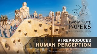 This AI Reproduces Human Perception | Two Minute Papers #248