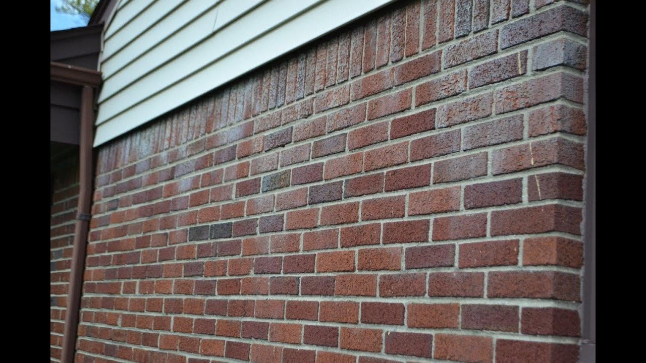 Removing Stains From Brick Caused By Siding Youtube