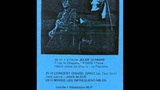"""DANIEL DARC - LIVE - LE CHAPELAIS - 12/03/1992 - """" Le seul garcon sur terre """""""
