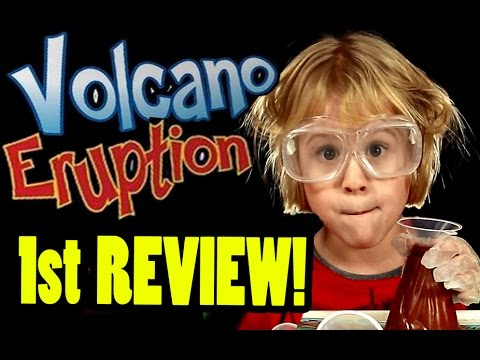 VOLCANO ERUPTION Game Review Experiment (Very Funny) Beau's FIRST hilarious review | Beau's Toy Farm