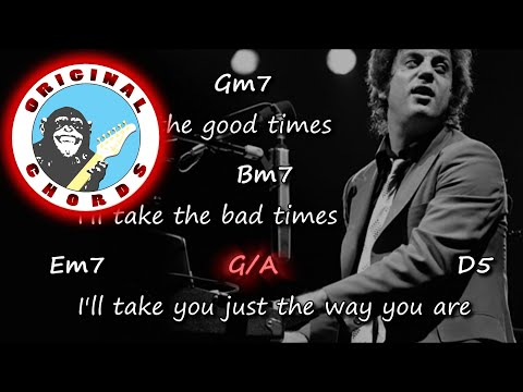 Billy Joel Just The Way You Are Chords Lyrics Youtube