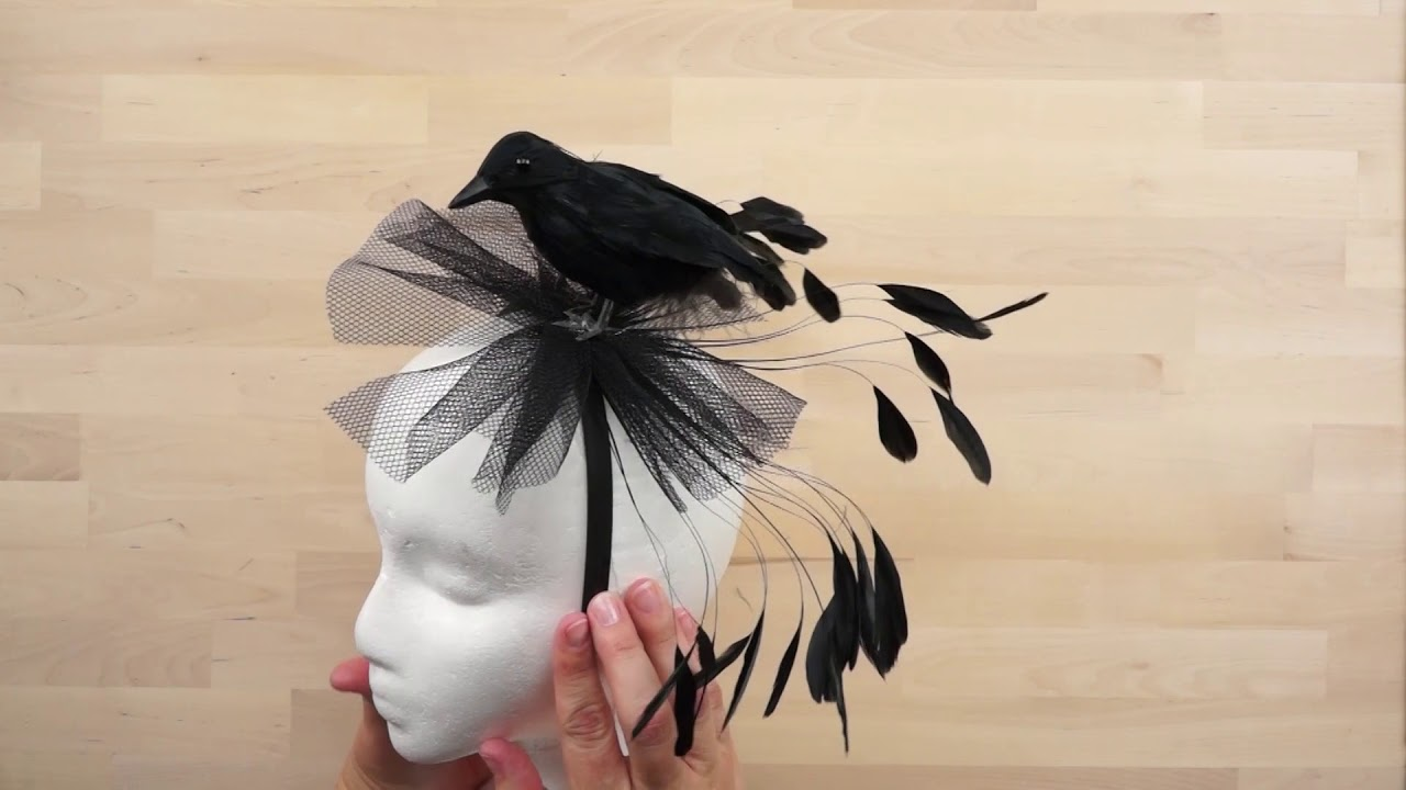 diy halloween crow headbands the feather place - youtube