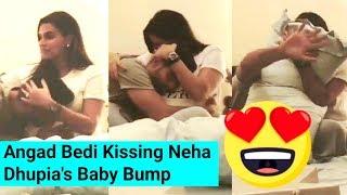 Neha Dhupia Husband Angad Bedi CUTE With Her Pregnant Baby Bump Is Very CUTE