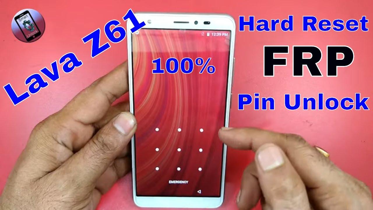 lava z61 frp unlock !! hard reset !! pin lock remove !! pattern unlock