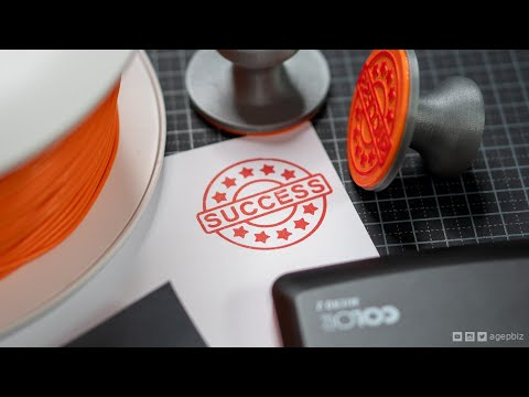 3D Printed Ink Stamp. Will It Work?