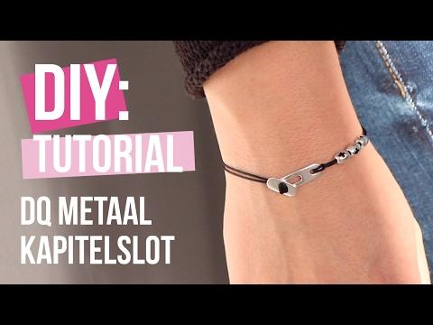 Sieraden maken: Minimalistic armbandje met kapitelslot van DQ metaal ♡ DIY