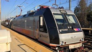 New Jersey Transit HD 60fps: Bombardier ALP-46A 4663 @ Princeton Junction 11/25/15