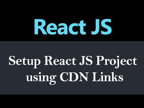 How To Setup ReactJS Project Using CDN Links (Hindi)