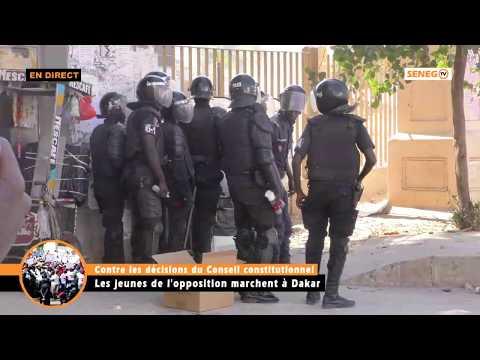 Direct: UCAD MANIFESTATION DES JEUNES DE L'OPPOSITION
