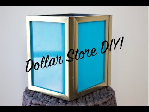 Dollar Store Diy Ep 33 How To Diy Picture Frame Lantern Youtube