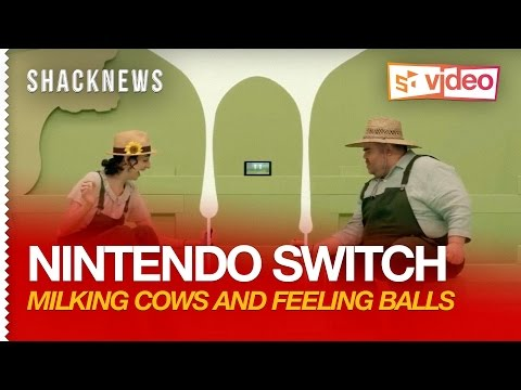 Nintendo Switch: 1-2-Switch Gameplay - Milking Cows and Feeling Balls