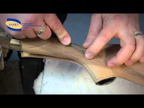 Aseen tukin ristikarhennuksen valmistus • Asesepäntyö TUTORIAL