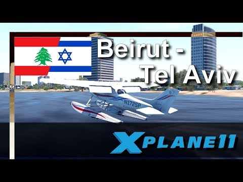 X PLANE 11 | Beirut (OLBA) nach Tel Aviv (LLBG)