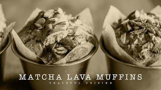 [No Music] How to make Matcha Lava Muffins