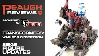 Video Update: Transformers SIEGE Updates!