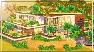 MODERN TROPICAL MANSION (w/Simproved) || The Sims 4: Speed Build (NO CC)