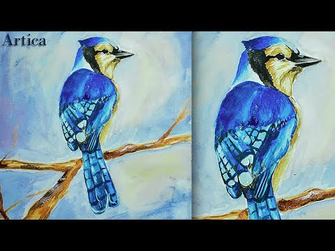 How to paint a Bird in Watercolor | Watercolor Tutorial