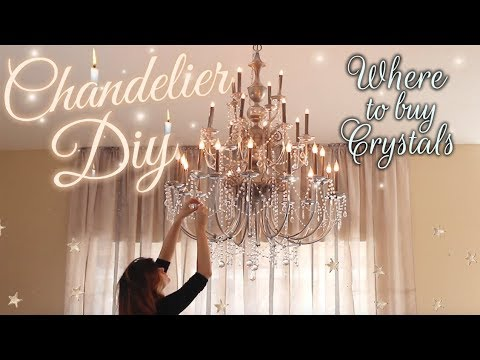 Diy Crystal Chandelier Baroque Inspired House Youtube