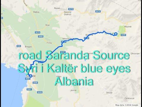 road Saranda Source Syri i Kaltër blue eyes Albania